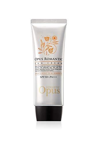 OPUS Romantic Sun cream, Sunscreens, Sun block, Sun protection SPF50+, PA+++ Anti-aging, whitening, Non-greasy cream type, ultra light, UVA/UVB shield (80 grams 2.82 fl. oz)