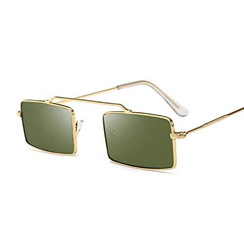 U/N Gafas de Sol cuadradas moradas para Mujer con Montura metálica de Tendencia, Gafas de Sol cuadradas pequeñas para Mujer, Vintage Rectangular-2