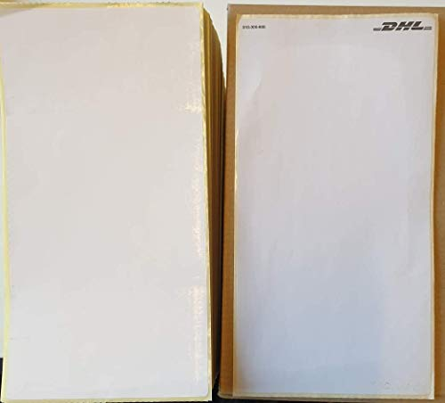 1000x DHL Versandetiketten Paket Aufkleber Thermopapier 103 x 199 (Faltband) Thermo Etiketten Zebra + Fiducia Stift