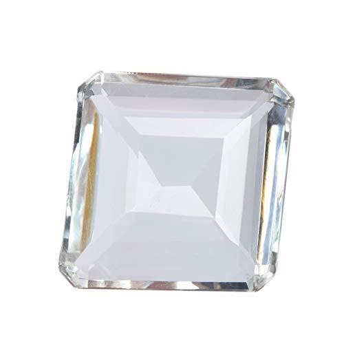 Topacio blanco de alta calidad 94.50 ct topacio blanco de piedras preciosas sueltas de corte cuadrado más fino para colgante