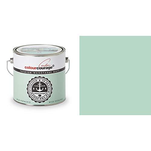 2,5 Liter Colourcourage Premium Wandfarbe Wild Pistachio Türkis | L709449609 | geruchslos | tropf- und spritzgehemmt