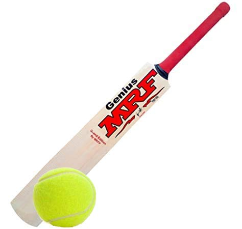 Virat Kohli Willow Cricket Bat with Tennis Cricket Ball (Combo) Size-5 for Boys Above 8+ Years