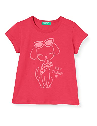 United Colors of Benetton T-Shirt Camiseta de Tirantes, Rosa (Pink Peacock 2l3), 80/86 (Talla del Fabricante: 1Y) para Bebés