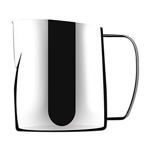 ROSELI 400ML Edelstahl Milch Schaum Krug DüSe Kaffee Latte Beh?Lter Krug, KüChenmilch Espresso Kaffee Krug