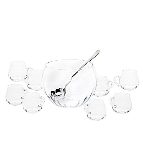Godinger 11-Piece Optic Crystal Punch Set