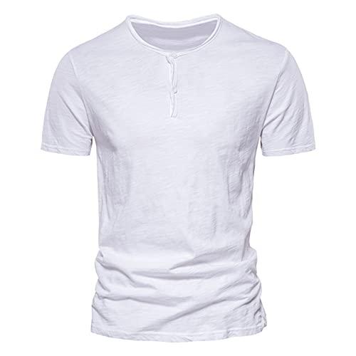 Camisas De Polo De AlgodóN Informales para Hombres, Camiseta Simple De Color SóLido con Botones para Hombres, Nueva Camiseta De Negocios De Verano para Hombres