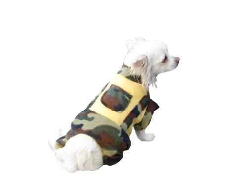 Seruna Anzug in Army Look Hund Bekleidung für Hunde Hundebekleidung Hundejogger Hundeanzug M43 Gr.S