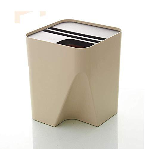 Huishoudelijke sortering vuilnisemmer stapelen vuilnisbak plastic ruimte papiermand (kleur: a maat: 25 5 × 25 5 × 30 cm)
