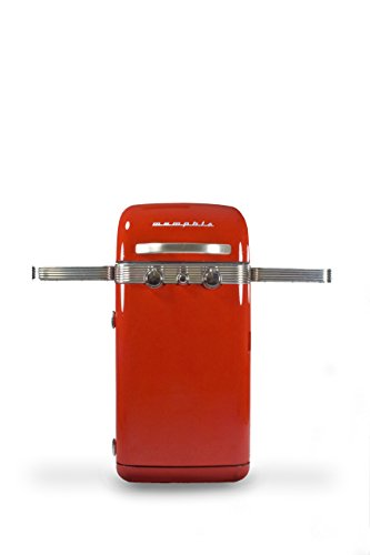 Memphis 2 Burner Stainless Steel Retro Gas BBQ, Red