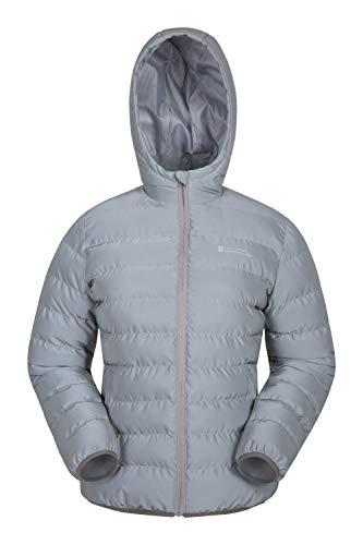 Mountain Warehouse Seasons Gefütterte Damenjacke - Wasserbeständige Winterjacke, Fronttaschen, verstellbare Bündchen und Kapuze mit Elastik Silber 30
