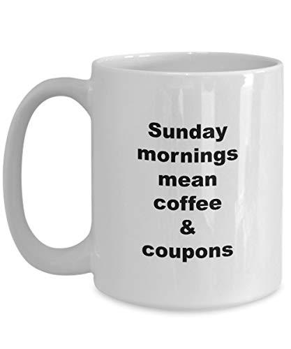 N\A Lustige Couponing kaffeetasse - sonntagmorgen bedeuten Kaffee & Coupons - Keramik geschenkbecher
