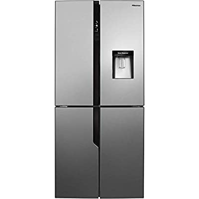 Hisense RQ560N4WC1 American Style Fridge Freezer,Stainless Steel Effect