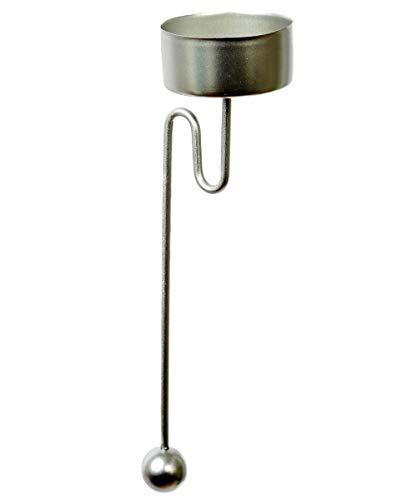 haus-der-geschenke Baumkerzenhalter Balancehalter für Teelicht 4 er Set in Silber