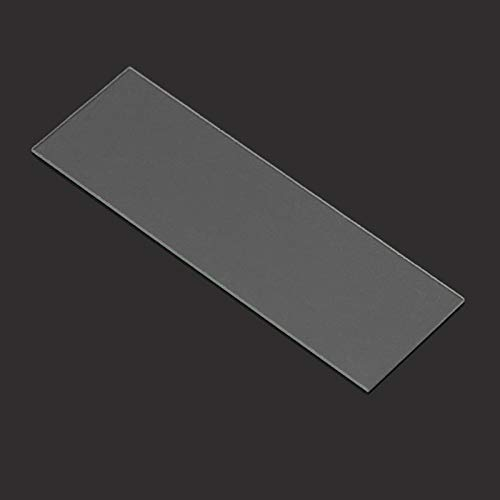 HARIKA - 50Pcs 1mm Thickness Cavity Glass Coverslips Single Concave Microscope Glass Slides Reusable Laboratory Blank Sample Cover Glass