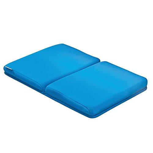 mDesign onderhoudsvriendelijke kniemat voor het zwemmen van de kinderen - badmat voor badkamer of keuken - sneldrogende badmat - duurzame badaccessoires - blauw