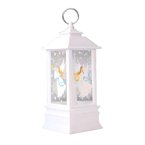 N/A. Luz de iluminación LED de llama de Navidad, diseño de alce, nieve, Papá Noel, decoración de puerta de casa, puerta, ventana, puerta, decoración de puerta, lámpara colgante que brilla en la noche