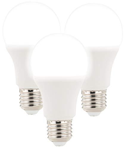 Luminea Radarlampe: 3 LED-Lampen mit Radar-Bewegungssensor, 12 W, E27, 6.400 K, TW (Leuchtmittel mit Bewegungsmelder)