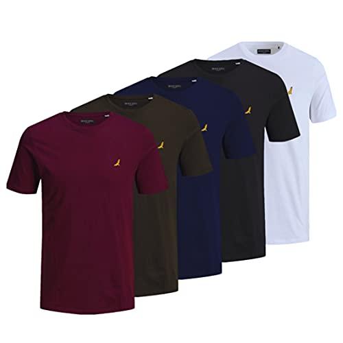 BRAVE SOUL T-Shirt 5er Pack Herren Rundhals Top, mehrfarbig, M