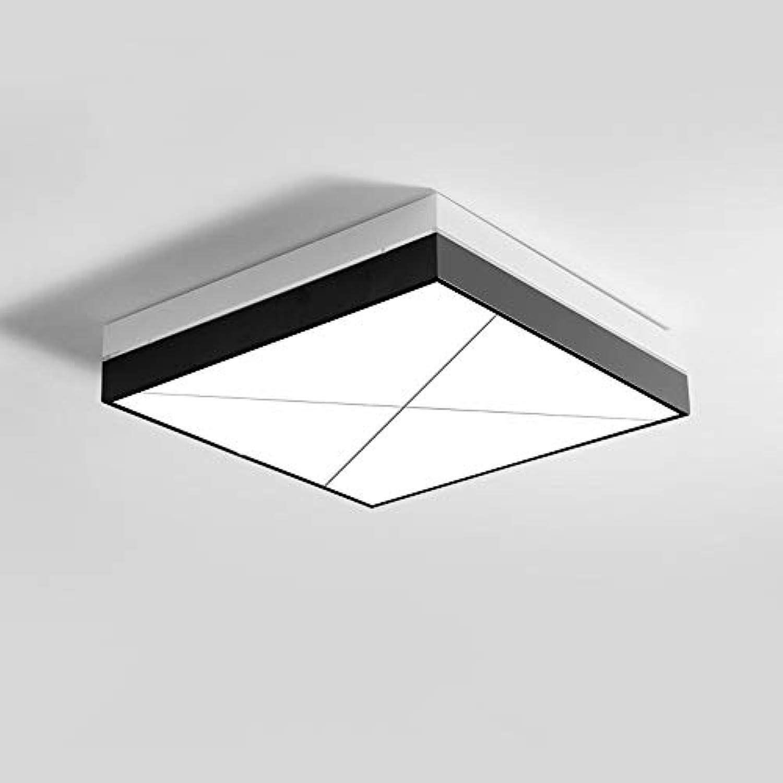 LCNINGXDD Quadratische Unterputz-Deckenleuchte 36W Moderne geführte Dimmable-Eisenkunst Deckenleuchte-Leuchte-Esszimmer-Wohnzimmer-Schlafzimmer (Farbe   TriFarbe Light)