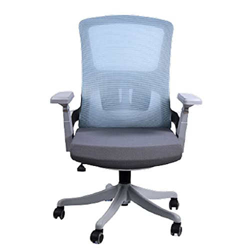 bjyx Silla plegable giratoria de oficina con esponja estereotipada con asiento elevador de ruedas, muebles de oficina para el hogar o camping (color gris)