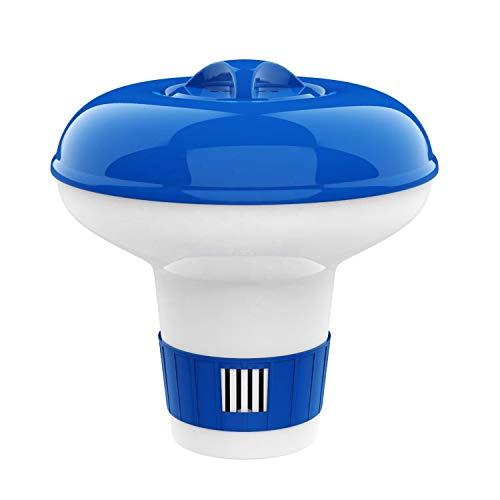 JACHOM Flotador químico, dispensador de cloro para piscina de hidromasaje spa, dispensador de químicos flotante ajustable de 5 pulgadas, soporte para tabletas de cloro (S)