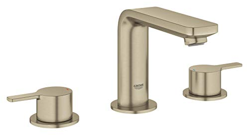 Grohe 20578ENA Lineare 8' Widespread Two-Handle Bathroom Faucet, Medium W, Brushed Nickel