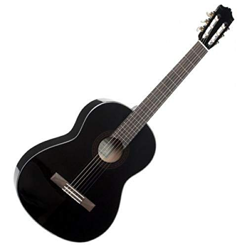 Yamaha C40BLII Akustikgitarre schwarz – Hochwertige Akustikgitarre für Einsteiger in edlem Design – 4/4 Gitarre aus Holz