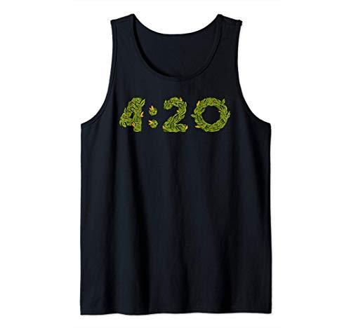 Weed Gras Unkraut Marihuana Cannabis THC Pott | 4:20 Tank Top