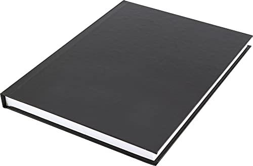 Kangaro - Cuaderno (A5, tapa dura, a rayas, 80 gramos, 80 páginas a rayas), color negro