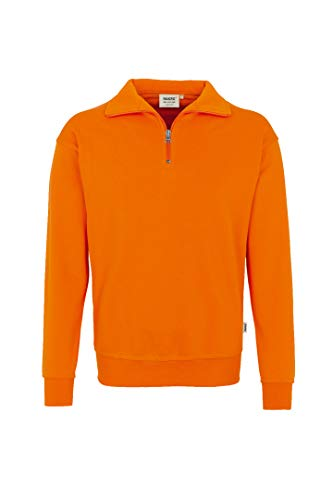 Hakro Zip Sweatshirt Premium, orange, XS