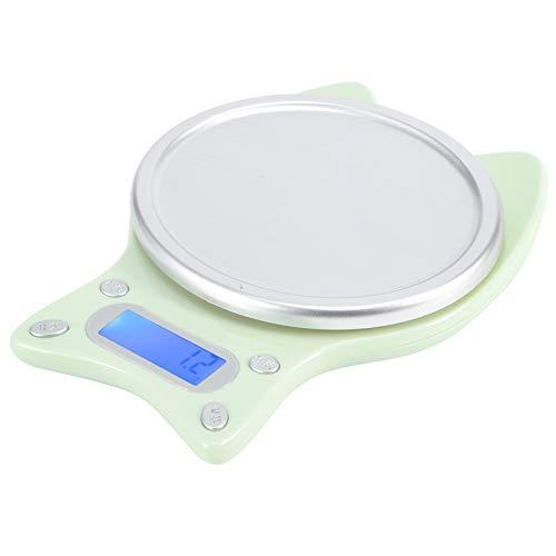Lebensmittelwaage 0,1 g - 3 kg Bereich Gewichtswaage Tragbare kleine Küchenwaage 5 Einheiten Großes LCD-Display mit Hintergrundbeleuchtung