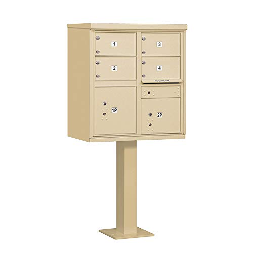 Salsbury Industries 3305SAN-U 4 C Size Doors-Type V-USPS Access Cluster Box Unit, Sandstone