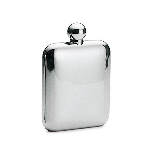 Philippi - Churchill Flachmann - 17 cl (170 ml) - Edelstahl poliert mit Schraubverschluss, auslaufsicher, Silber Klassiker, Hip Flask