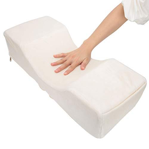 Multifunctional Pillow for Salon,Nail Art Hand Cushion,White Eyelash Extension Pillow,U‑Shaped Neck Support Headrest,Ergonomic Lash Grafting Tool