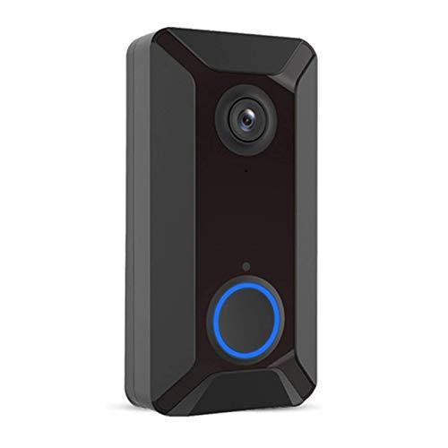 WiFi de la cámara de vídeo timbre de la puerta intercomunicador visual con la cámara de almacenamiento en la nube de visión nocturna inalámbrica Inicio de Seguridad de timbre for Home Office (Color: S