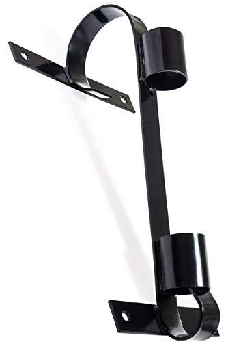 Fahnenhalter, Langlebiges Verzinktes Metall, Schwarz, Für Große Und Kleine Fahnen
