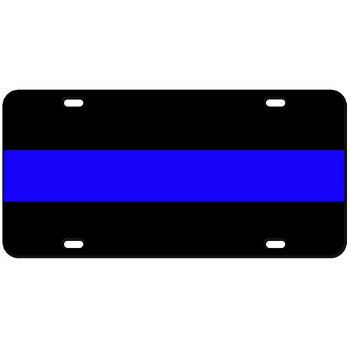JASS GRAPHIX 2-D Heavy Duty Reflective Thin Blue Line License Plate