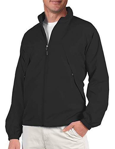 SCOTTeVEST Mens Pack Windbreaker Jacket - 19 Pockets - Fall Jackets for Men (BLK M)