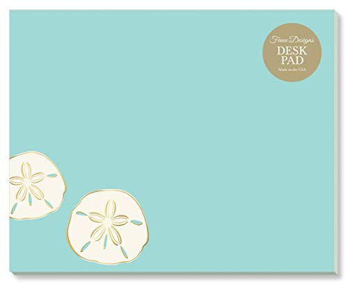 Sand Dollar Designer Desk/Mouse Pad Premium Quality 50 Tear Off Sheets, 7.25 x 9 inches to Do List Organization Scheduling Appointments Messages Notes by Faux Designs