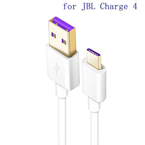 Miss parts Replacement 3.2ft Long USB Data/Fast Charger High Speed Quick Charge Cable Cord for JBL Charge 4 Portable Waterproof Wireless Bluetooth Speaker