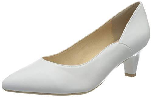 Caprice Damen Cristina Pumps, Weiß (White Nappa 102), 40.5 EU