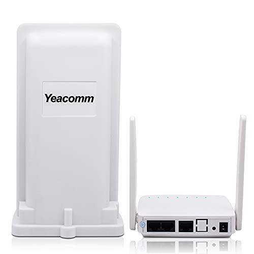 Yeacomm Outdoor Router 4G WiFi CPE, Mobile Router 4g Wi-Fi Supporta Tutti Gli Operatori in Italia, Mobile Router Hotspot Portatile con 2 antenne, 4G LTE Cat4 150Mbps