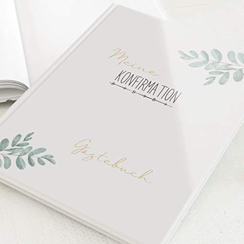 sendmoments Gästebücher Konfirmation, Festlich, hochwertige Blanko-Innenseiten, 32 Seiten oder...