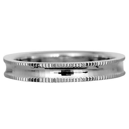 [ココカル]cococaru フルエタニティリング カットデザイン ペアリング シルバー リング2本セット マリッジリング 結婚指輪 日本製 (レディースサイズ15号 メンズサイズ5号)