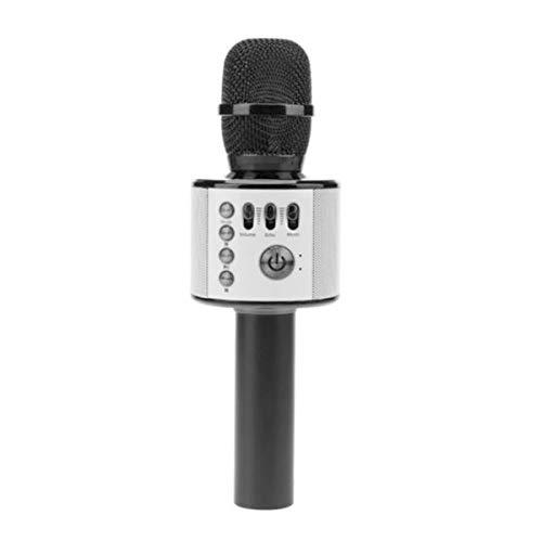 HaiQianXin Inalámbrico portátil de Mano KTV Karaoke Micrófono USB Bluetooth Altavoz Reproductor...