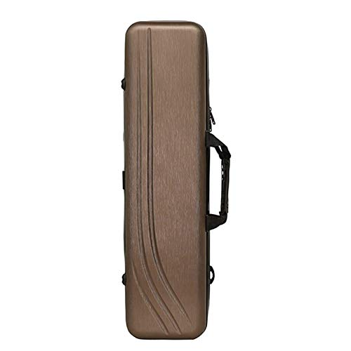Huachaoxiang Fishing Rod Bag, Multi-Function Hard Shell Waterproof Fishing Equipment Thick Wear Resistant Fishing Backpack, 70Cm,Brown