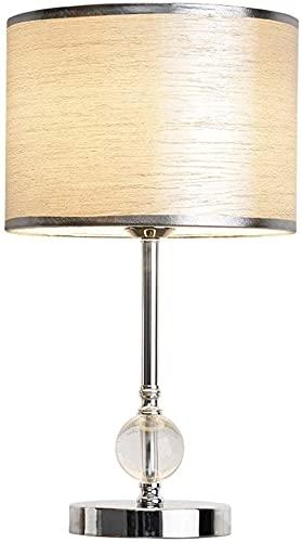 XFXDBT Lámpara de mesita de Noche Lámpara de Mesa de Cristal de Cristal de la Cama de Dormitorio Moderno Control Remoto Inteligente Lámpara de Mesa Ajustable E27 con Interruptor de botón