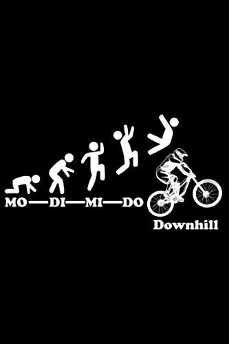 Downhill Woche Endlich Freitag Wochenende: DIN A5 Kariert 120 Seiten / 60 Blätter Notizbuch Notizheft Notiz-Block Downhill Fahrrad MTB Mountainbike Bike Geschenke