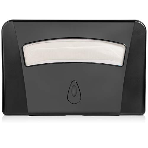Oasis Creations Toilet Seat Cover Dispenser Wall Mount – Heavy Duty Commercial or Residential – Black