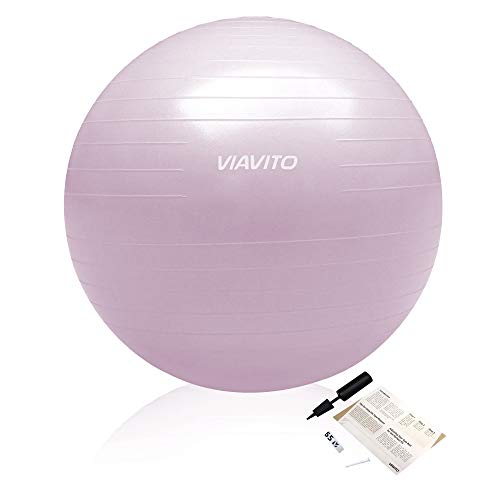 Viavito Pelota de Gimnasio Unisex (500 kg, 65 cm), Color Rosa